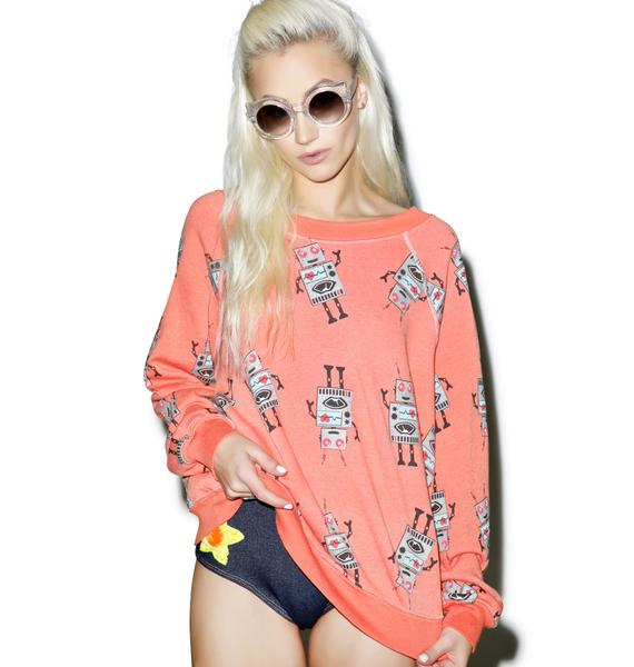 Wildfox Couture Robot Takeover Kim's Sweater