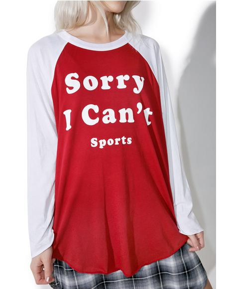 Sorry I Can't Rebel Raglan