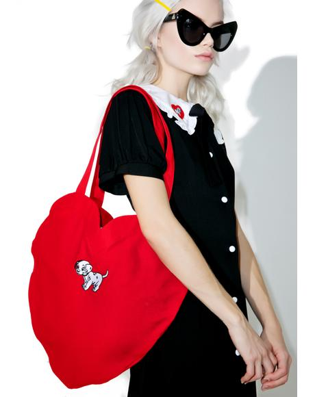 X Disney 101 Dalmatians Heart Bag