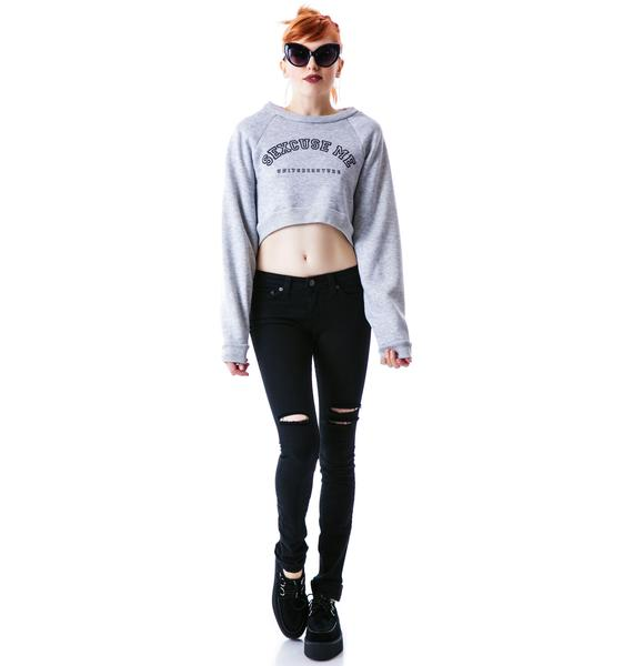 United Couture Sexcuse Me Cropped Sweatshirt