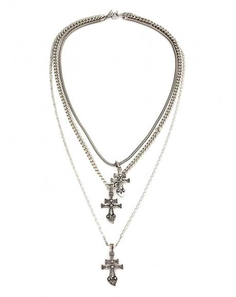 New York Dolls Silver Necklace
