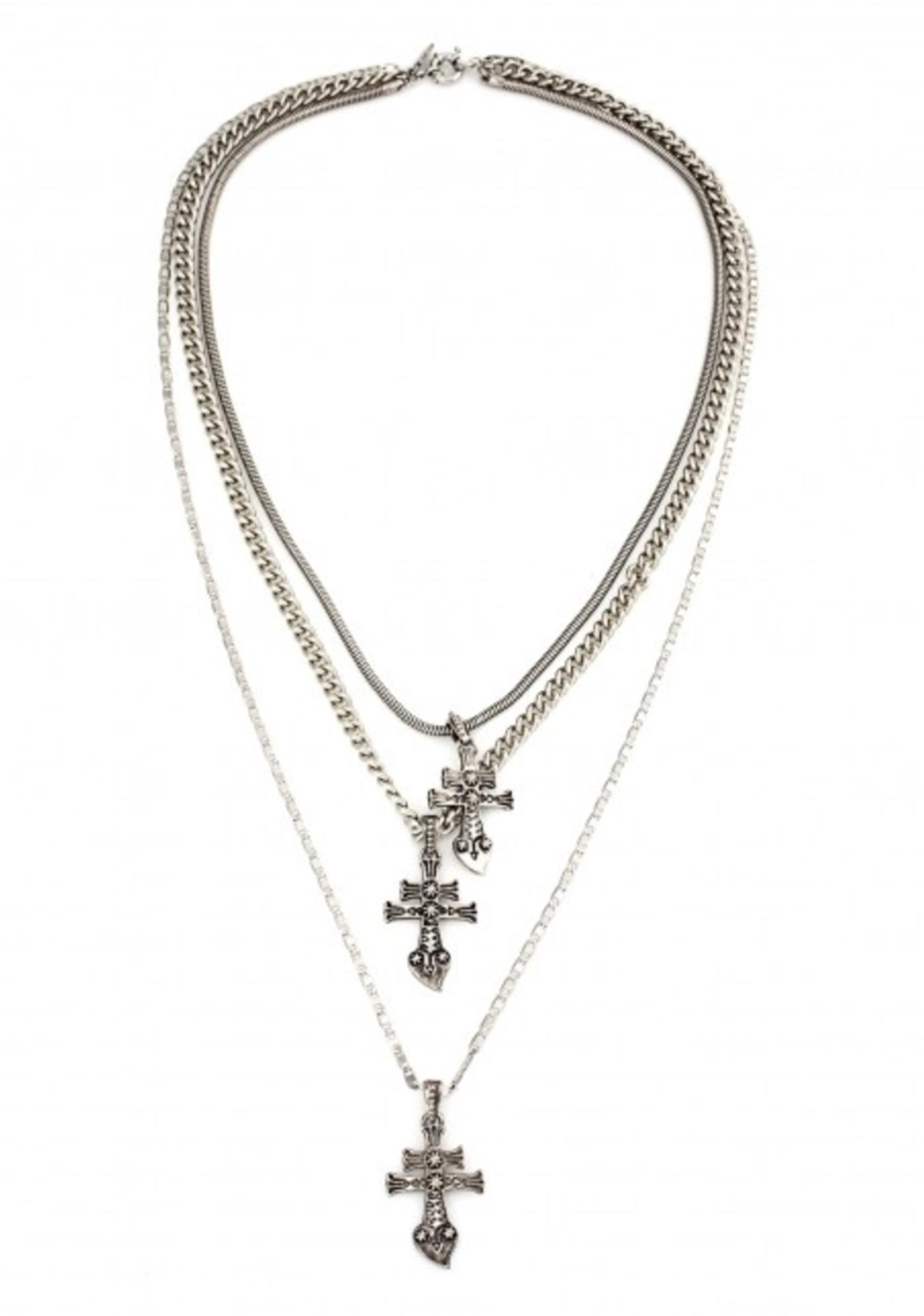 Vanessa Mooney New York Dolls Silver Necklace