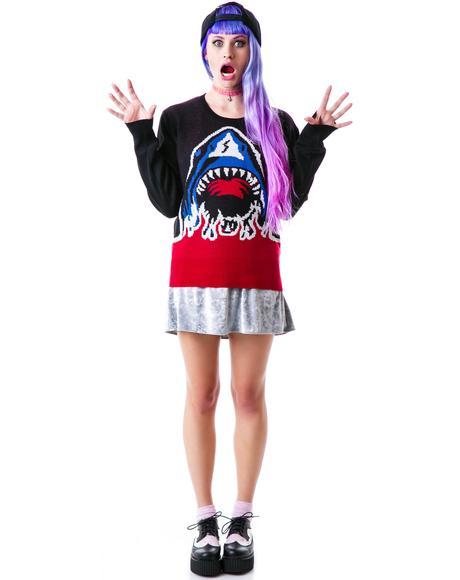 Shark Attack Crew Knit Sweater