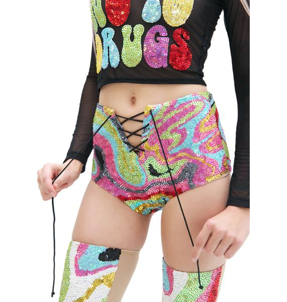 This Is A Love Song X Dolls Kill Super Psychedelic Hot Shorts
