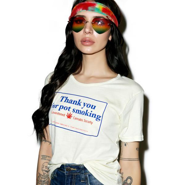 Sugarhigh + Lovestoned Thank You For Pot Smoking Tee