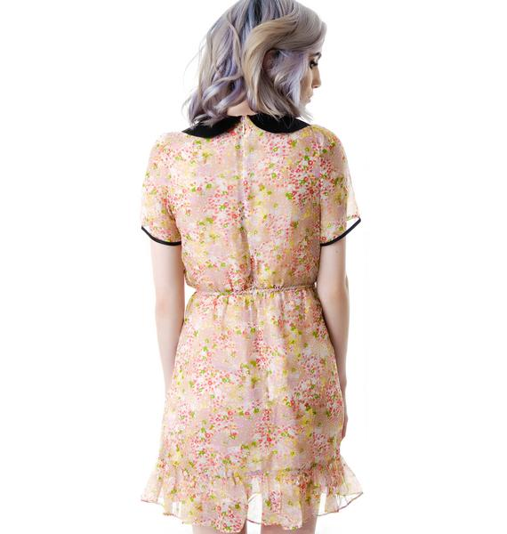 L'ecole des Femmes Evie Floral Collared Dress