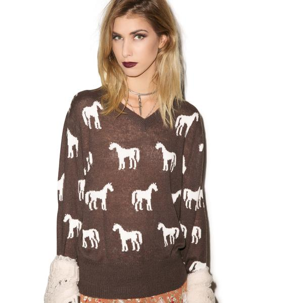 Wildfox Couture Rider V-Neck Sweater