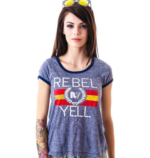 Rebel Yell Flag Ringer Tee