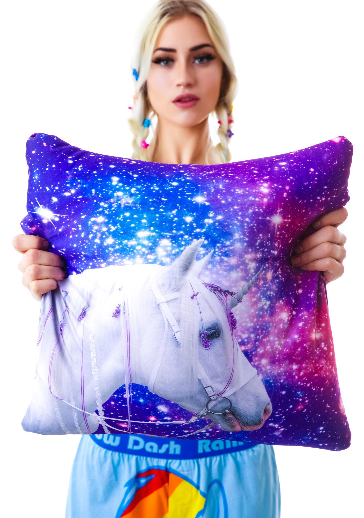 Galaxy Unicorn Pillow