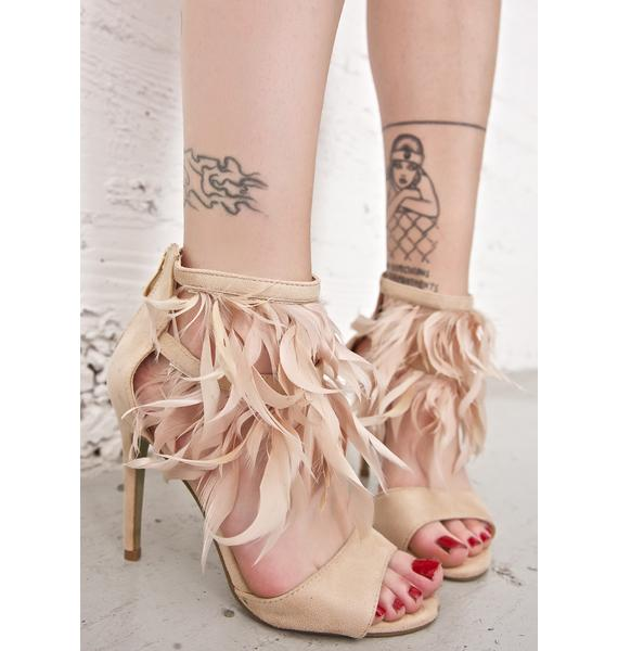 Exotica Feathered Heels