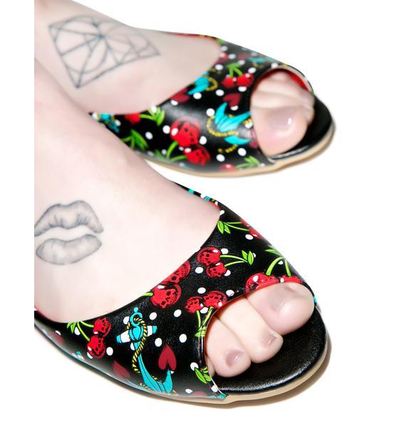 Iron Fist Cherry Glazer Peep Toe Flats