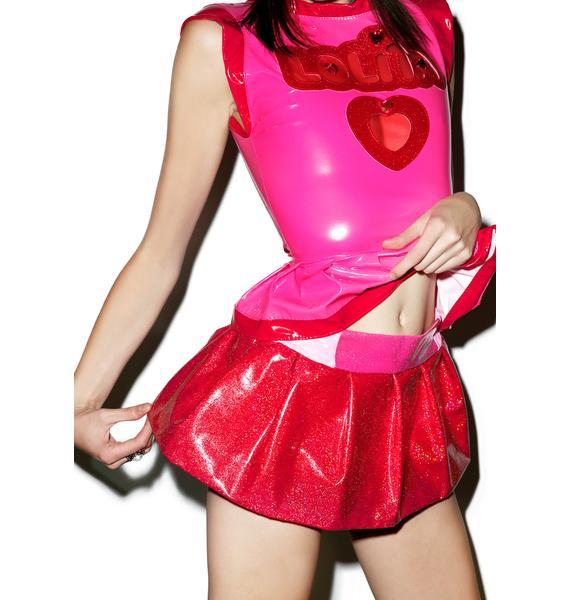 Kiss Me Kill Me Glitteresque Death Skirt