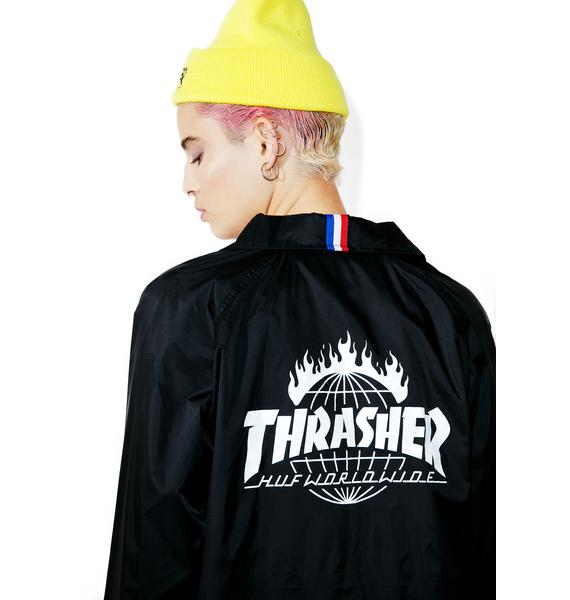 HUF X Thrasher Coaches Jacket