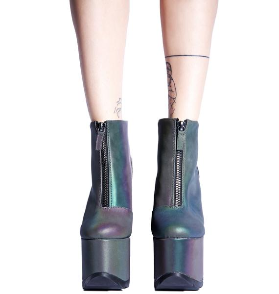 Y.R.U. Nightmare Reflective Platform Boot