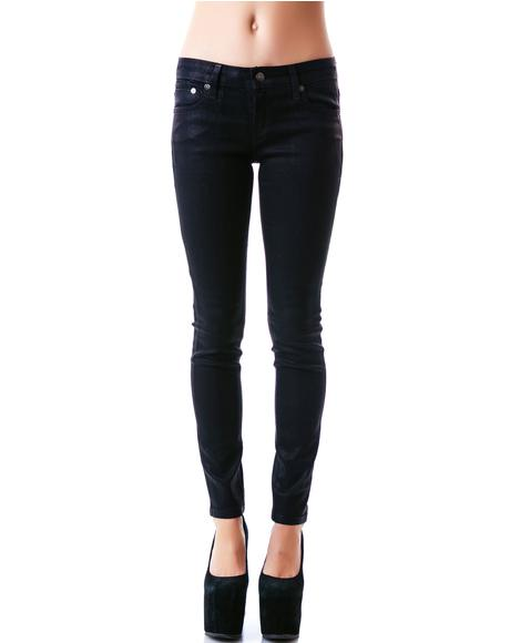 Wax Coated Stretch Junkie Jeans