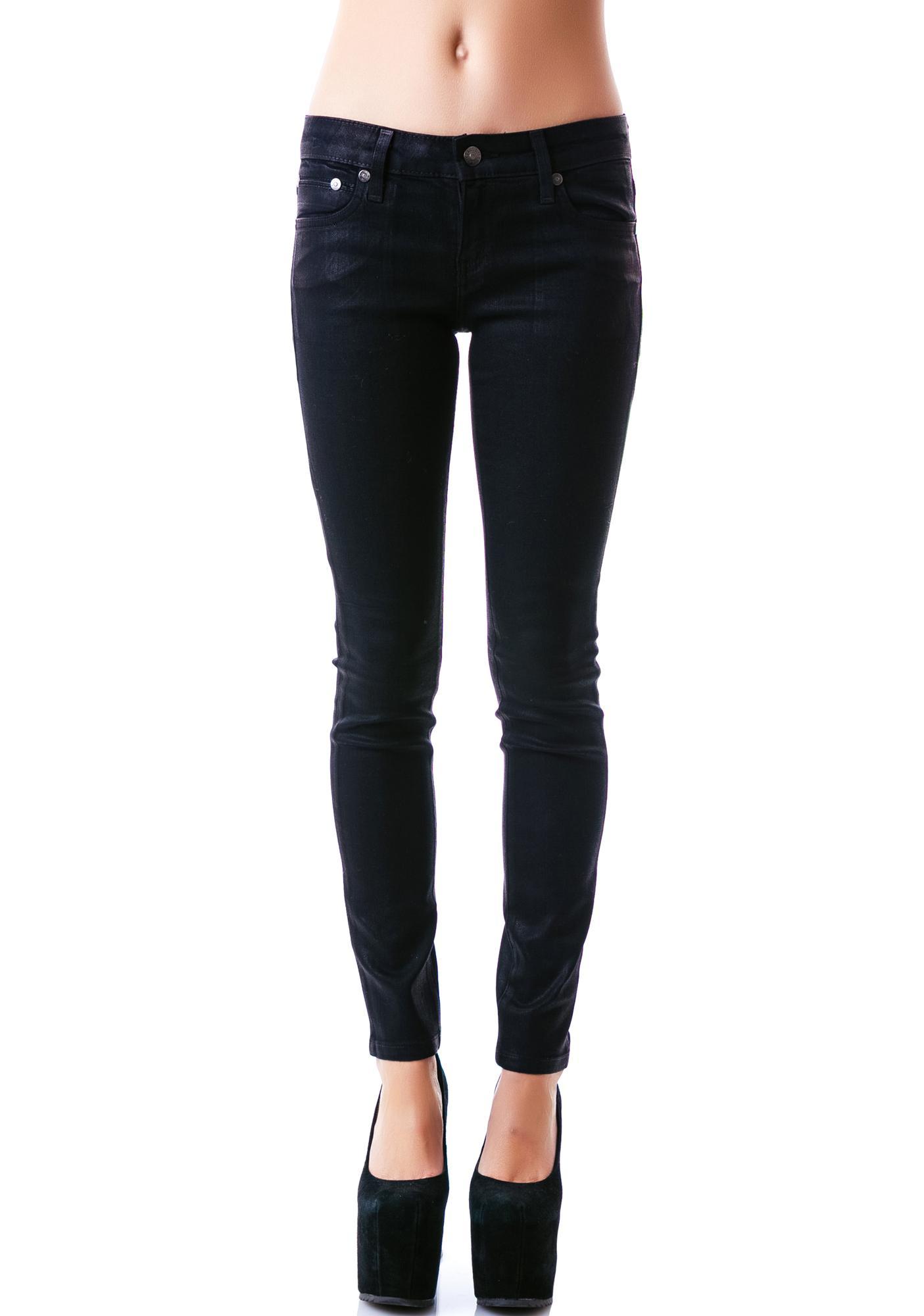 Kill City Wax Coated Stretch Junkie Jeans