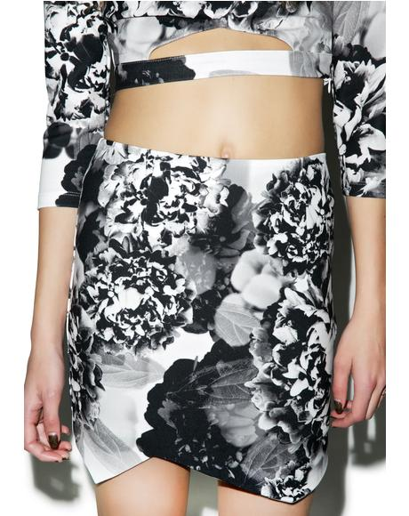 Black Blossom Skirt