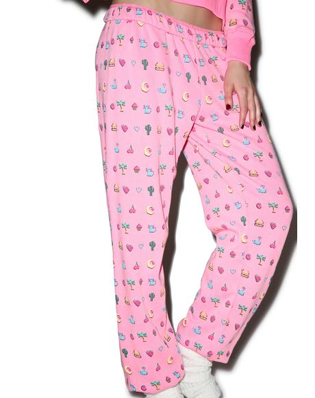 Pixelated Emoji Easy Sweatpants