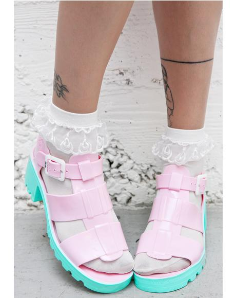 Cotton Candy Kyra Sandals