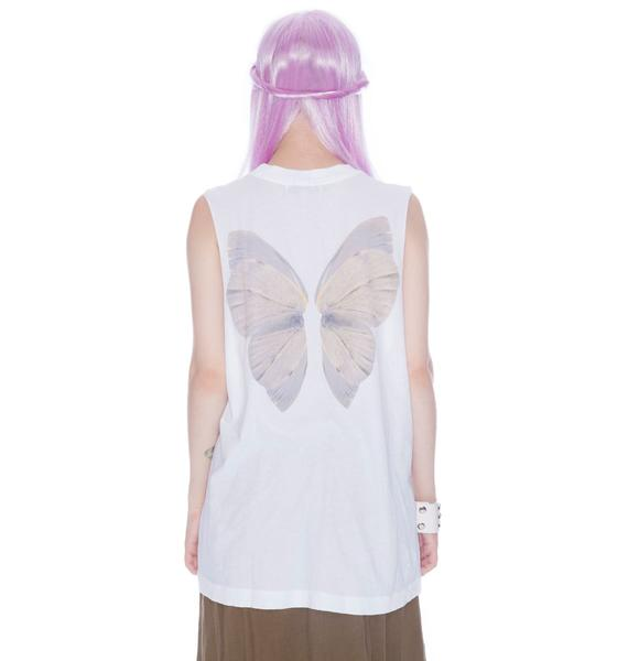 Wildfox Couture Fairy Wings Muscle Tank