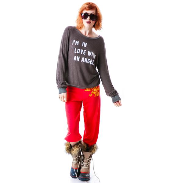 Wildfox Couture I'm In Love With An Angel Baggy Beach Jumper