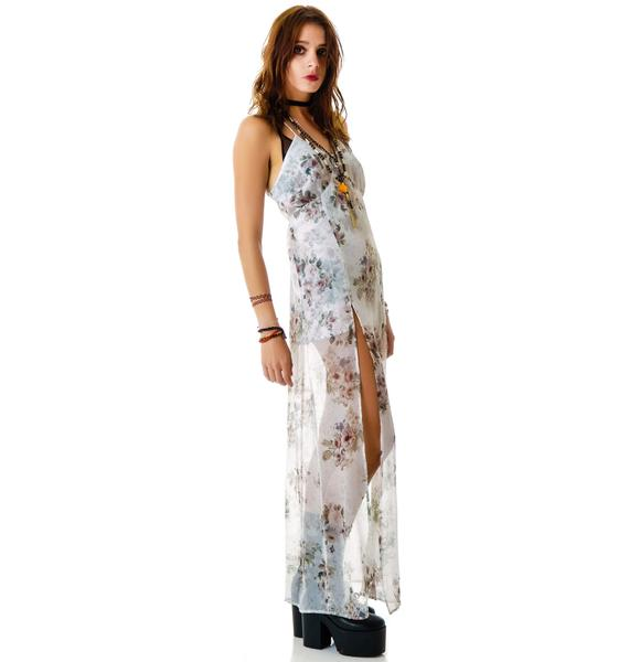 For Love & Lemons Victorian Floral Dress