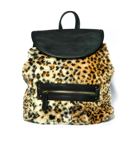 Nila Anthony Cheetah Fur Mini Backpack