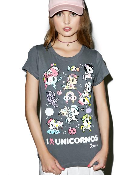 I Heart Unicornos Tee