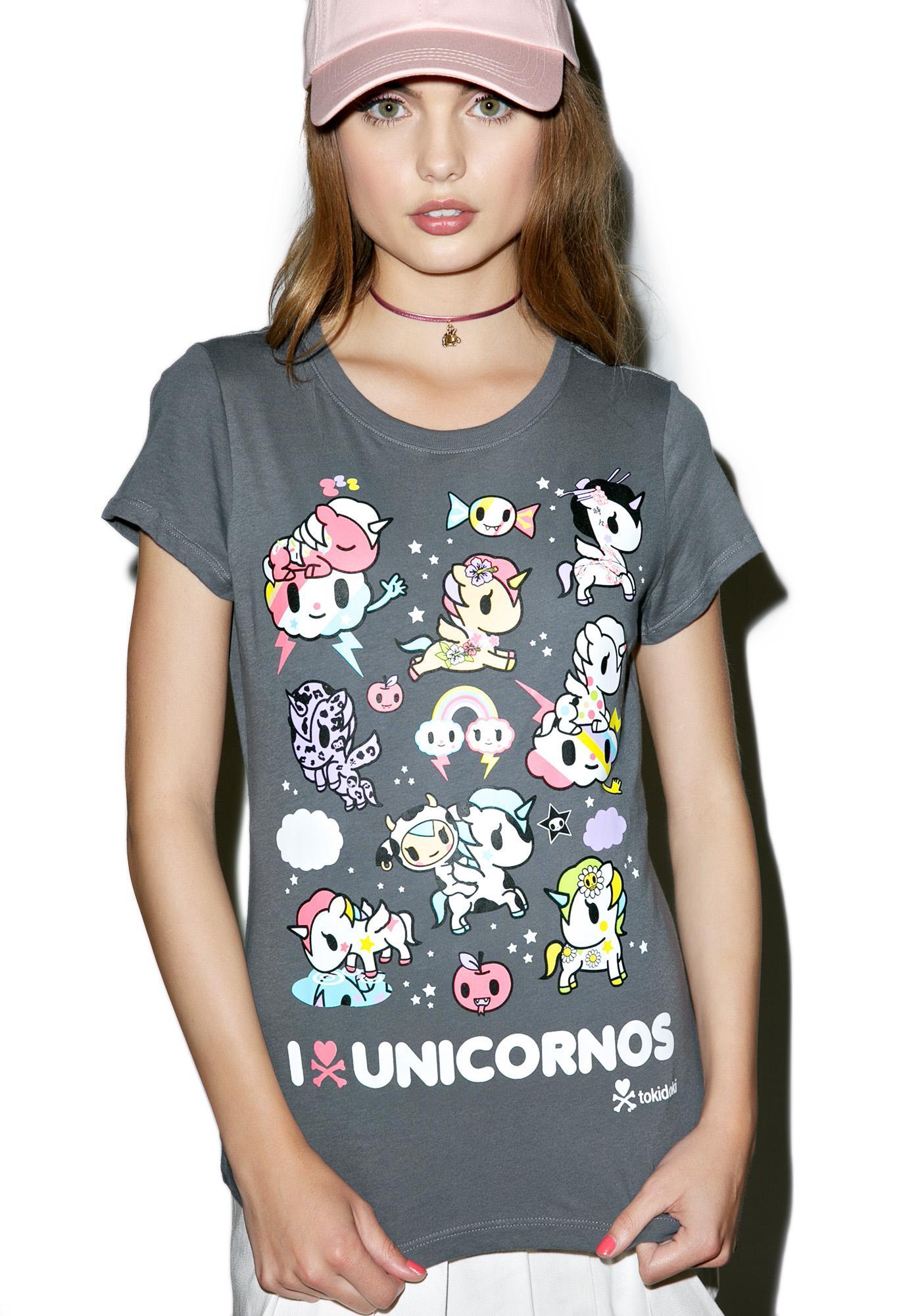 Tokidoki I Heart Unicornos Tee