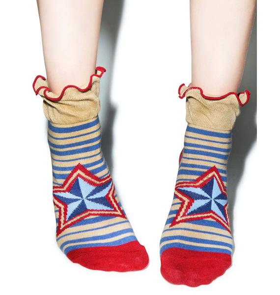 Starz N' Stripez Ankle Socks