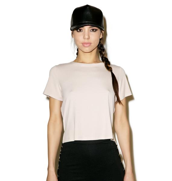 I'm Out Nude Ribbed T-Shirt