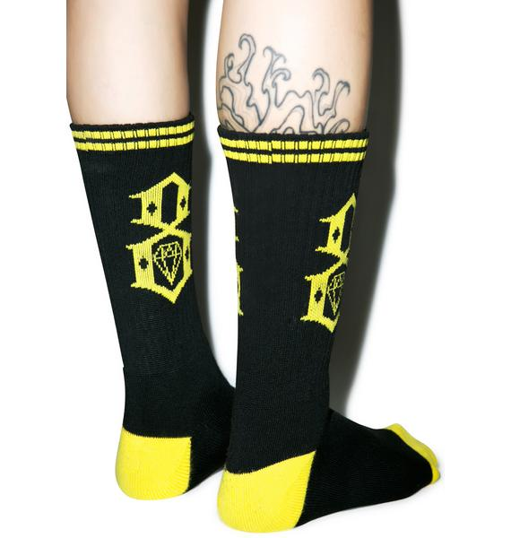 Rebel8 Dark Logo Socks