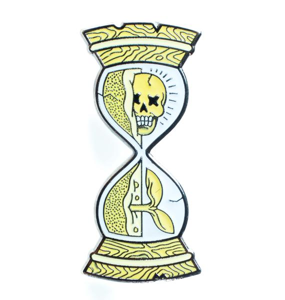 No Hours Hourglass Pin