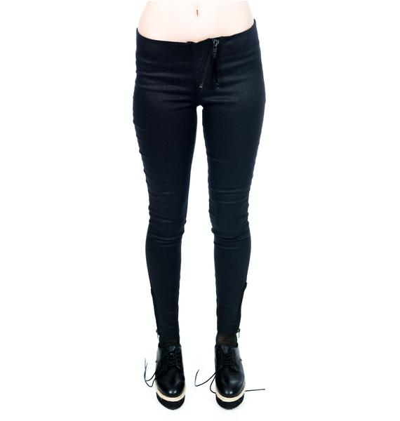 Widow Skinny Jeans with Exposed Zips