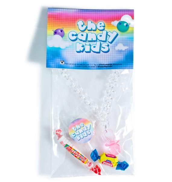 The Candy Kids Pink Plastic Binky Choker