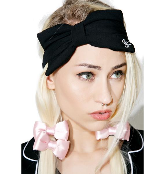 Wildfox Couture WF Logo Bow Eye Mask