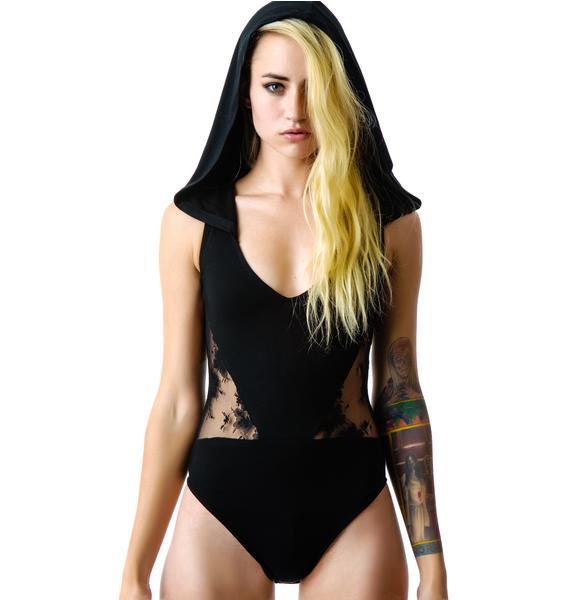 Widow Hooded Bodysuit