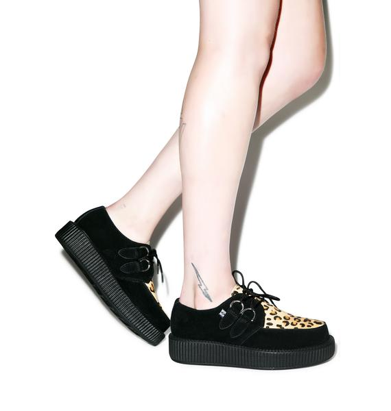 T.U.K. Leopard Viva Low Sole Creepers