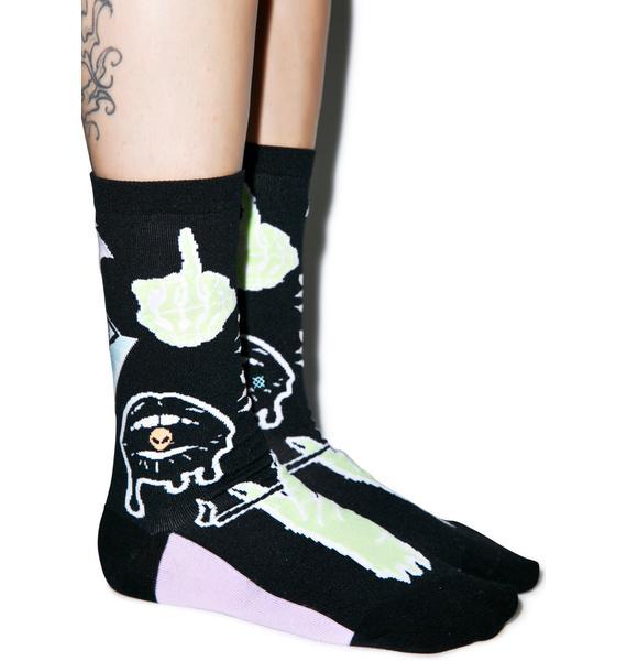 Stance Punk N Patch Crew Socks