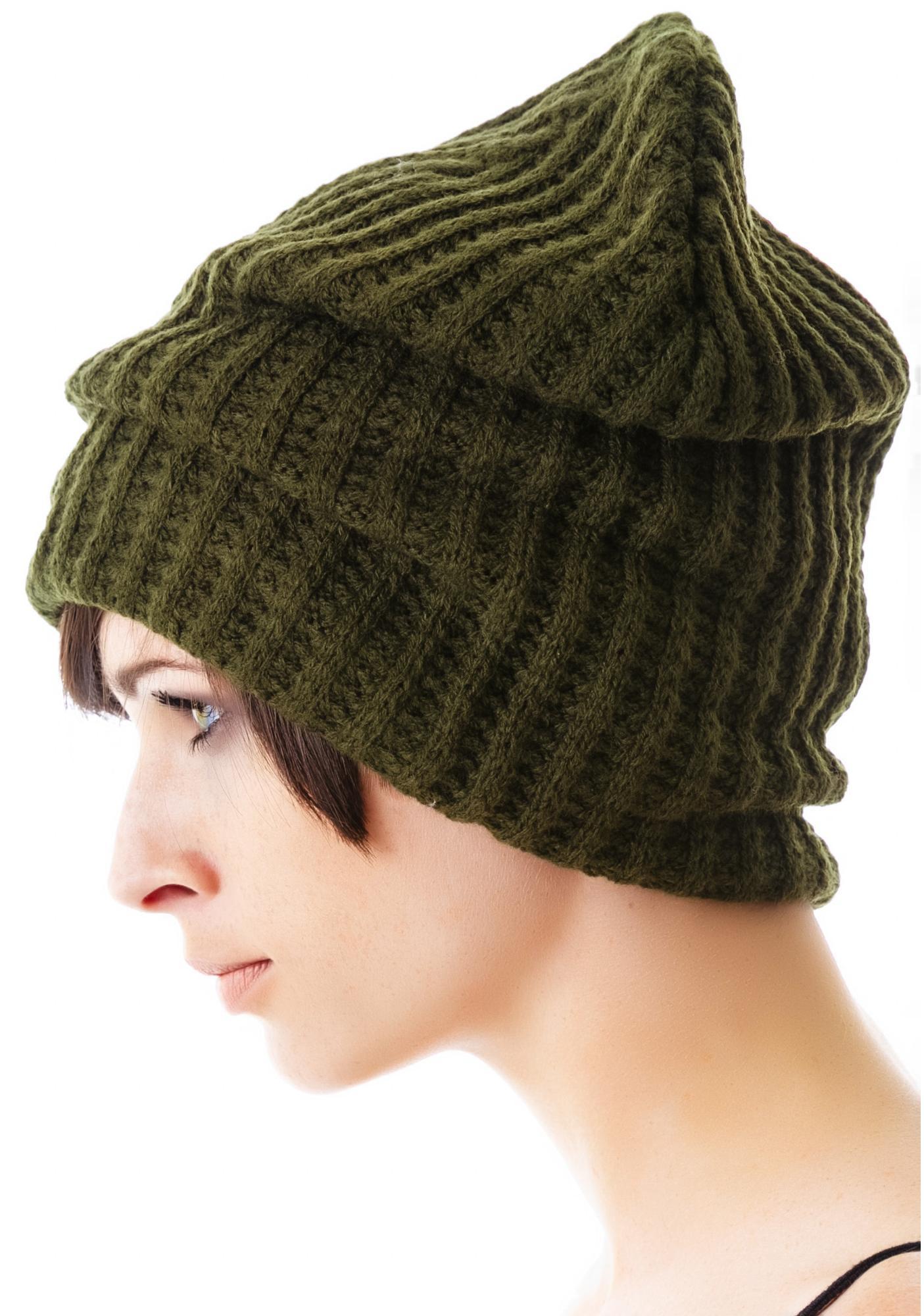 Knitting Pattern Lined Hat : Plush Edie Fleece Lined Thermal Knit Hat Dolls Kill