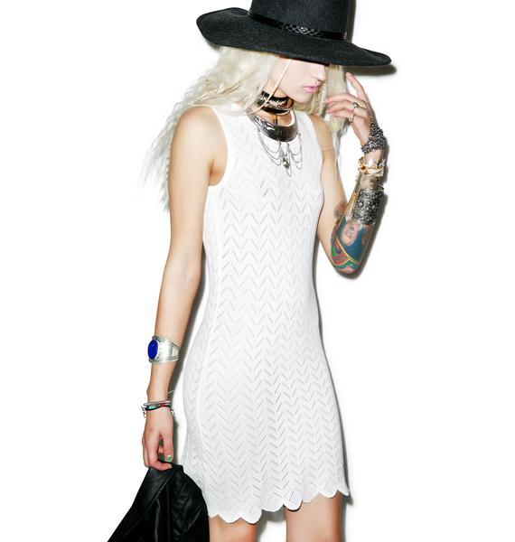 For Love & Lemons Knitz Lemon Drop Mini Dress