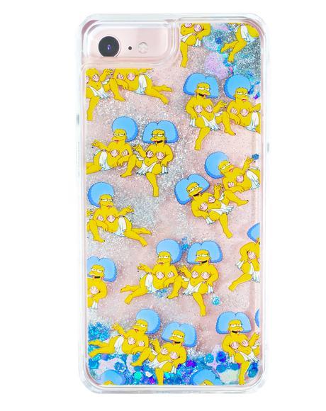 Patti & Selma Glitter iPhone Case