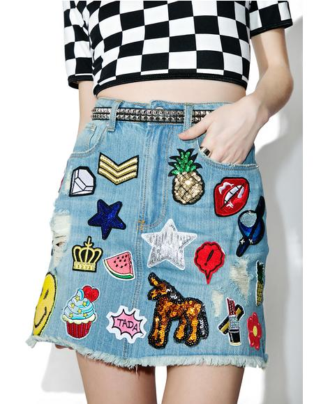 Dream Collector Patch Skirt