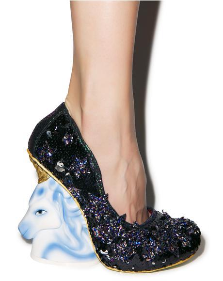 The Eternal Friend Sequin Heels