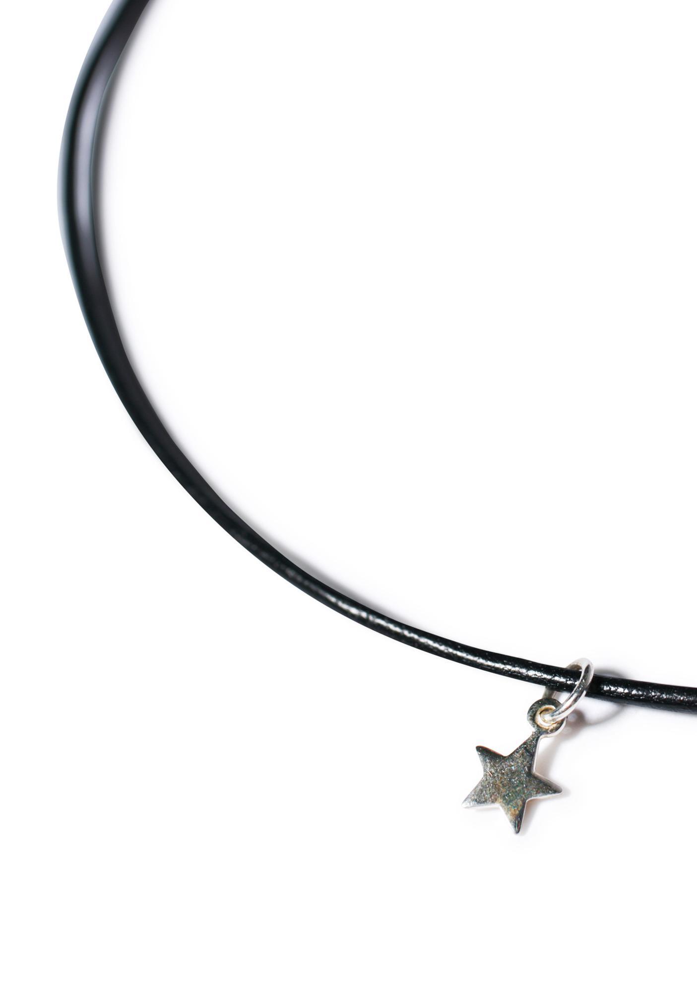 Sterling Silver Star Choker