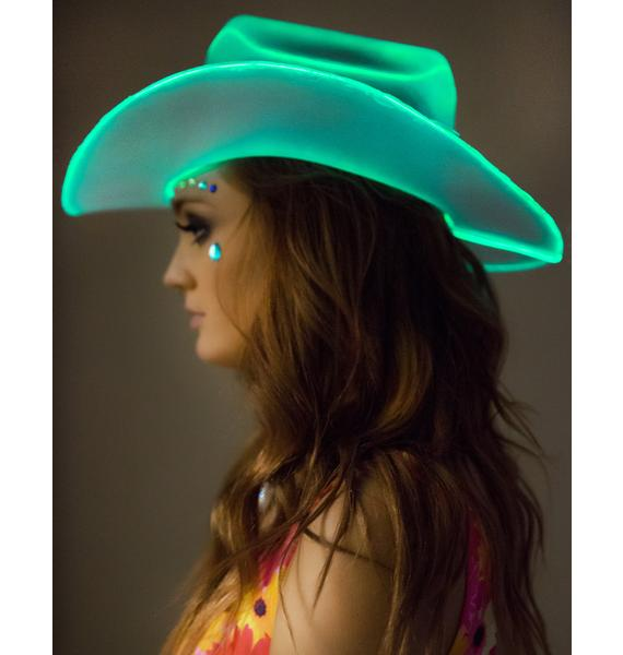 Neon Cowboys Light Up Hat