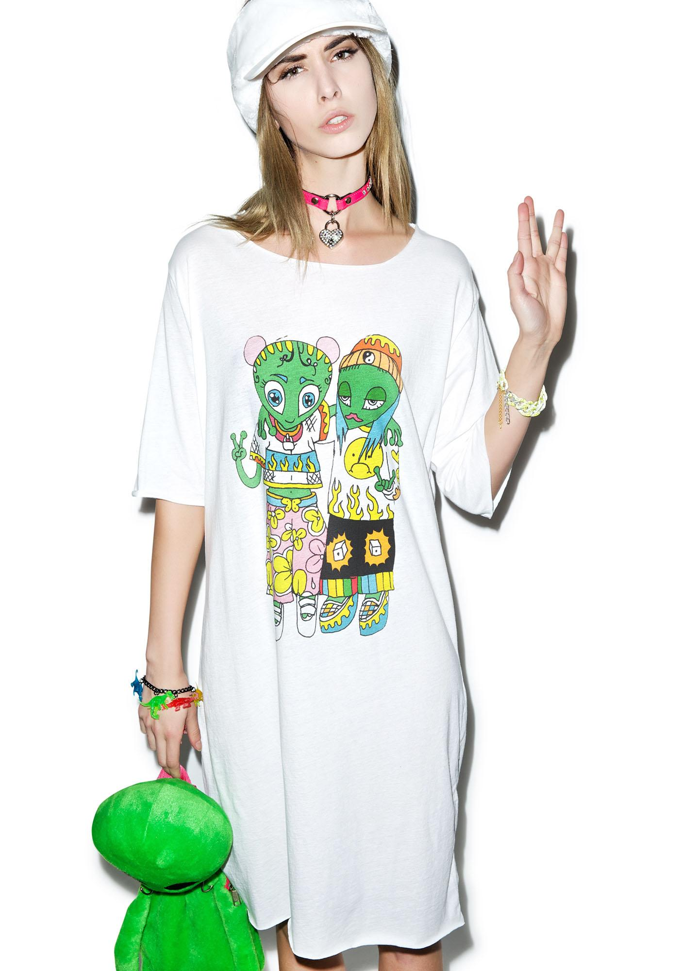 Y.R.U. Came In Peace Tee Dress