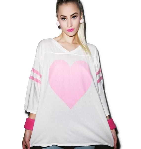 Wildfox Couture Barefoot Heart Jersey Tunic