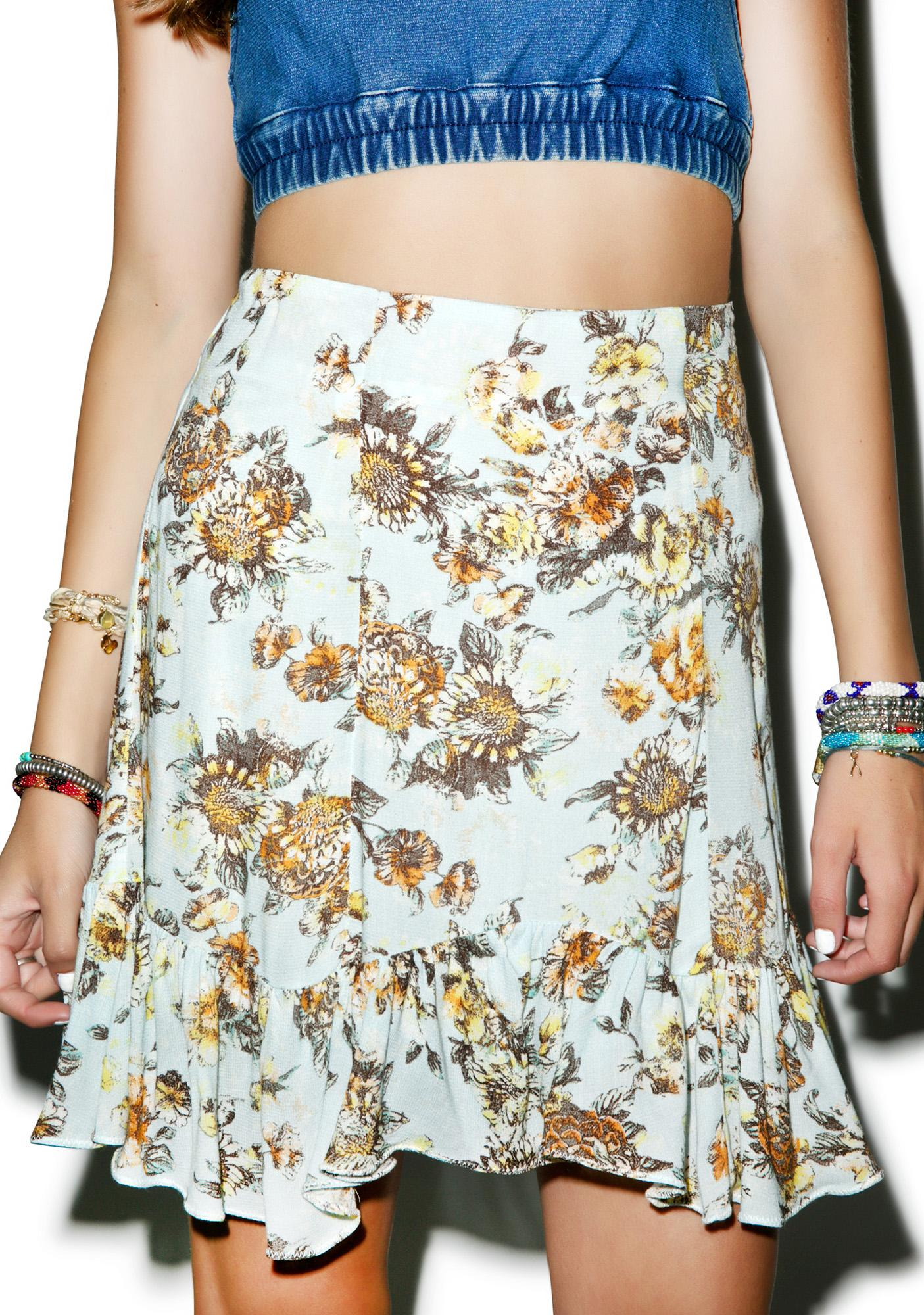 Somedays Lovin Bungalow Floral Skirt