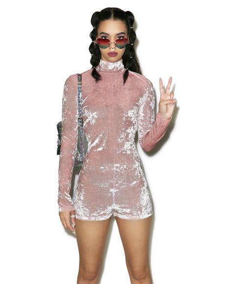Your Velvet Crush Lace Up Bodysuit